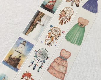 1 Roll of Limited Edition Washi Tape (Pick 1):  Lighthouse, Dreamcatcher, or Lady's Fashion