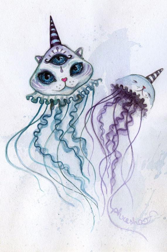 Trippy Cat Drawing