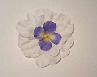 Big white and purple flower