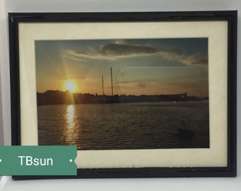 Sunset photo in frame