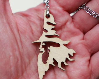 Gandalf wood pendant