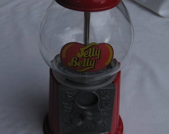 Red Bubble Gum Machine, Jelly Belly Candy Dispenser