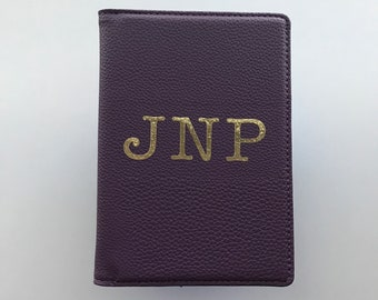 Initials RFID Passport Wallet | Vegan Leather | Customized Passport Holder