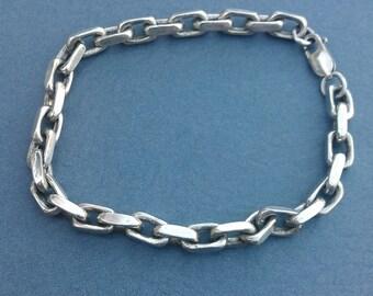 Heavy Sterling Silver Link Bracelet