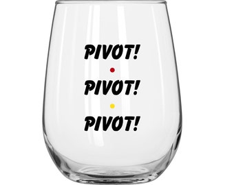 Pivot! Pivot! Pivot! - Ross Gellar - Personalized - Friends TV Show - 1 Glass