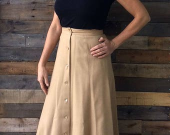 Patty Woodard for Joseph Magnin Vintage 1960's High Waisted Full Length Maxi Skirt