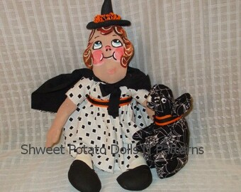 Grace Drayton Styled Halloween Folk Art Doll Witch