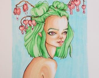 Bleeding Heart Flower Girl