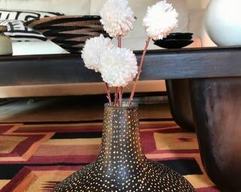 Pom pom winter white bouquet . Add bohemian flare to your enty