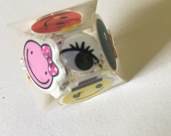 Many Faces Googly Eye Resin Orgonite Ring