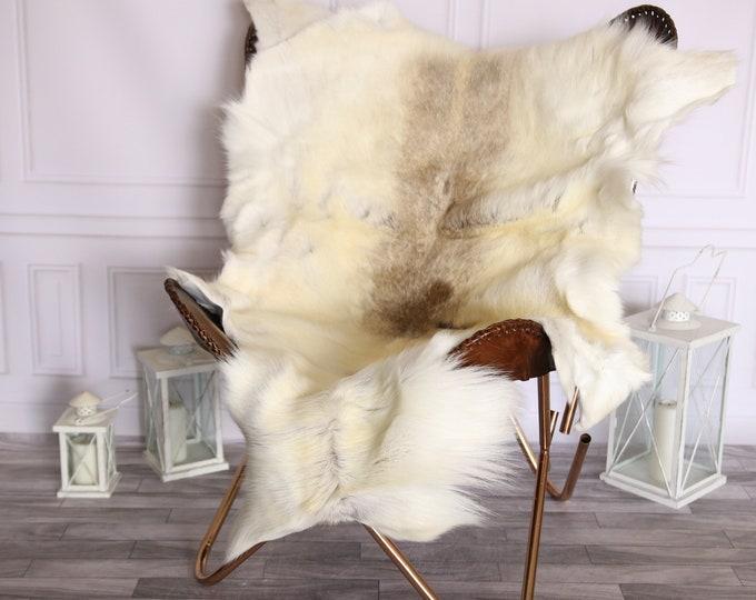 Reindeer Hide   Reindeer Rug   Reindeer Skin   Throw Large  - Scandinavian Style #BRE10