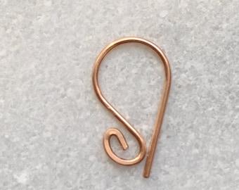 20 18 16 gauge Daith Earring. 925 Sterling Silver, 14K Gold Filled , Rose Gold Filled.