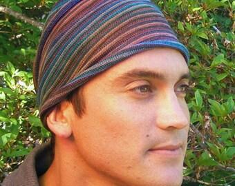 Earth Tones Tie Dyed Headwrap Headband Dreadband Head wrap Cotton Tribal Stripes