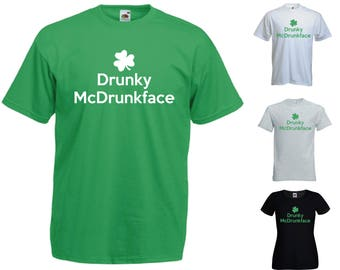 Drunky McDrunkface T-Shirt - Funny St Patrick Paddy Ireland Irish