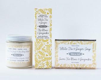 white tea & ginger perfume oil for body + home
