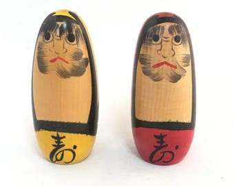 Daruma, Daruma Doll, Kokeshi Doll, Kawaii Japanese Doll, Antique Kokeshi Doll, Antique Doll, Japanese Doll, Asian Decor