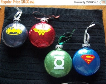 SPRING SALE Superhero Christmas Ornament