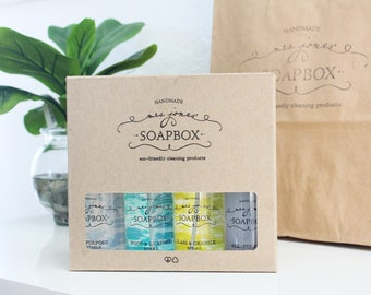 Mini Eco-Friendly Natural Household All Purpose Cleaning Scrub & Laundry Soap Cleaning Kit
