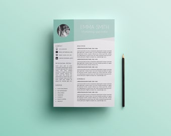 Modern resume template for word and pages creative modern resume template template for word cv template instant download creative modern thecheapjerseys Image collections