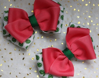 Pink and Green Watermelon bows
