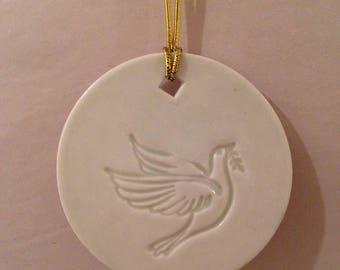 Dove Ornament - Celadon Green- READY TO SHIP