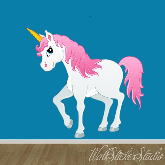 Unicorn wall decal fabric wall decal wall sticker decals for Space unicorn fabric