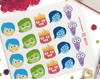 Inside Out Emotions Planner Stickers  | Sad | Emotions | Pixar | Chores | Funny | Emoji