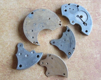 Vintage metal pocket Watch plates   - Steampunk - Scrapbooking j6