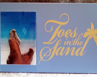 Toes in the Sand Picture Frame