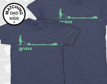 Daddy and Me Shirts - Grass