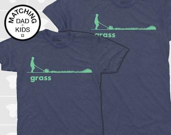 Garden Gift Men, Grass, Lawnmower, Dad and Me Shirt, Father Son, Matching Shirts, Matching Dad Son, Daddy Daughter Shirt, Dad Baby Shirt