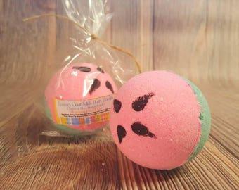 Watermelon Large Bath Bomb, Shea Butter Bath Bomb, Bath Fizzy