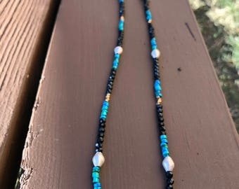 Spinel and Mykonos beads Necklace