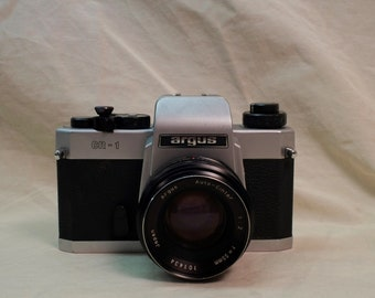 Argus CR-1 SLR film camera with Argus Auto-Cintar M42 mount 55mm f2 lens - Working