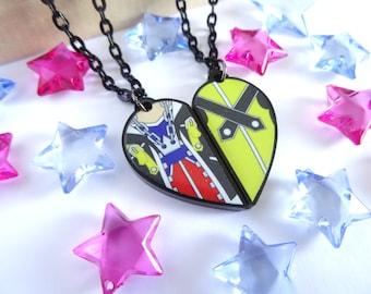 Sora and Riku BFF Necklace Set