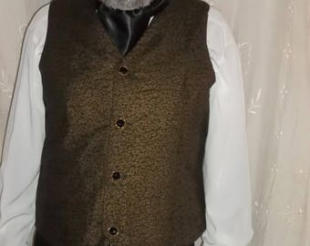 Vest in black with gold sprkle print