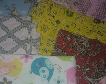 Fabric Scrap Packs Cotton Woven ,Cotton Knit, Cotton Flannel