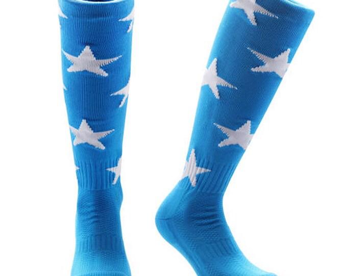 Samson® Stars Funky Socks Sport Knee High Sport Football Rugby Soccer