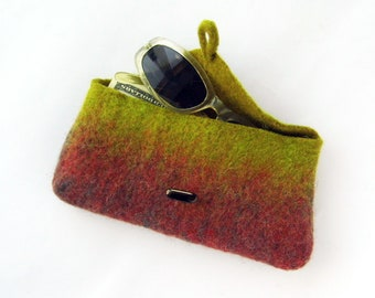 Wet Felted Eyeglasses  OOAK Ready to Ship handmade gift for her under 50 USD