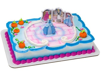 Disney Princess Cinderella Transforms Cake Topper