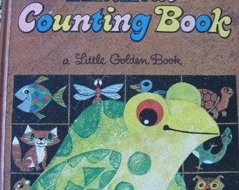 ON SALE Animal Counting Book -  Vintage Little Golden Book - 1972 Australian edition