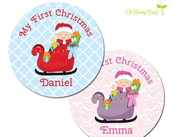 Personalized Christmas Plate for Kids - My First Christmas Plate - Personalized Plate for Christmas - Holiday Plate for Kids