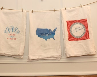 4th of July Tea Towels