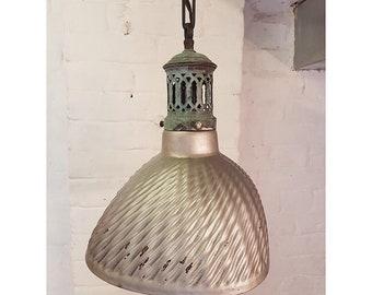 Industrial mercury glass lamp, original gallery