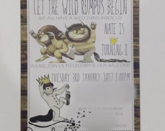 Where The Wild Things Are Invitations