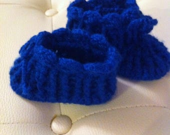 Toddlers slippers , BABY boy or girl slippers, slippers with sole, booties, baby booties