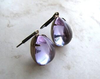 Alexandrite Glass Earrings