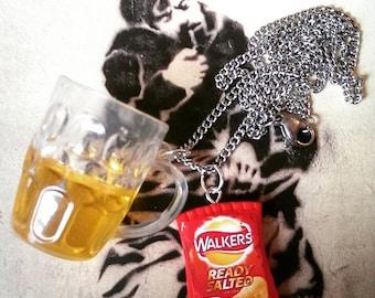 Pub - Pint & Crisps Necklace