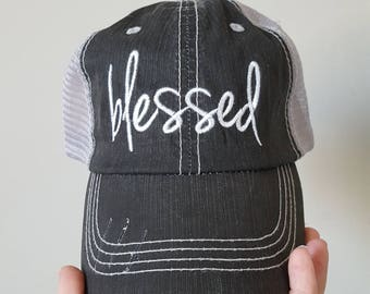 Blessed hat (no cross), embroidered hat with choice of style