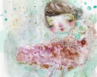 TINY DANCER  - art print by Mindy Lacefield